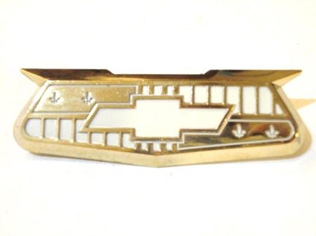 1955 1956 Chevy Bel Air Gold Crest Emblem Nos