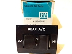 82-86 CHEVY PICKUP TRUCK REAR A/C SWITCH NOS