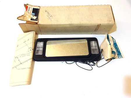 Lighted Vanity Mirror Kit : 1977-1987 GM LIGHTED VANITY MIRROR KIT NOS