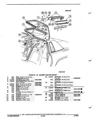 75 77 GM A BODY HURST T TOP GLASS SET NOS p 1274 together with Us Car 1 also RepairGuideContent likewise C990244 moreover 1969 Buick Skylark Wiring Diagram. on 1977 buick skylark