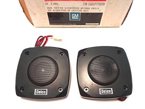 87-97 CHEVY GMC TRUCK & VAN TWEETER W/ CROSSOVER SPEAKER KIT NOS