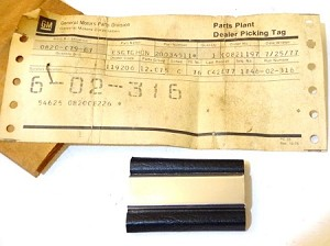 77-78 BUICK ROOF MOLDING NOS