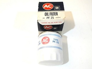 62-75 CHEVY PF25 OIL FILTER NOS