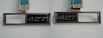 68 CHEVY 427 FENDER MARKER BEZELS PAIR NORS