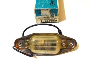 67-82 CHEVY PICKUP TRUCK REAR BUMPER LICENSE LAMP NOS