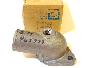 66-81 GM 6 CYL. THERMOSTAT WATER OUTLET NOS