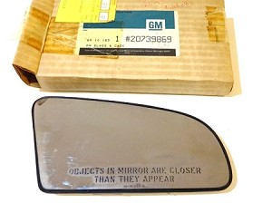 87-91 GM DOOR MIRROR GLASS NOS