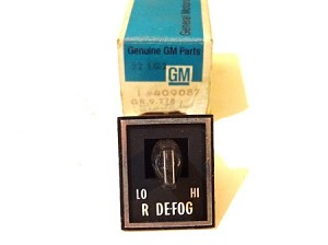 71-73 OLDSMOBILE REAR DEFOGGER SWITCH NOS
